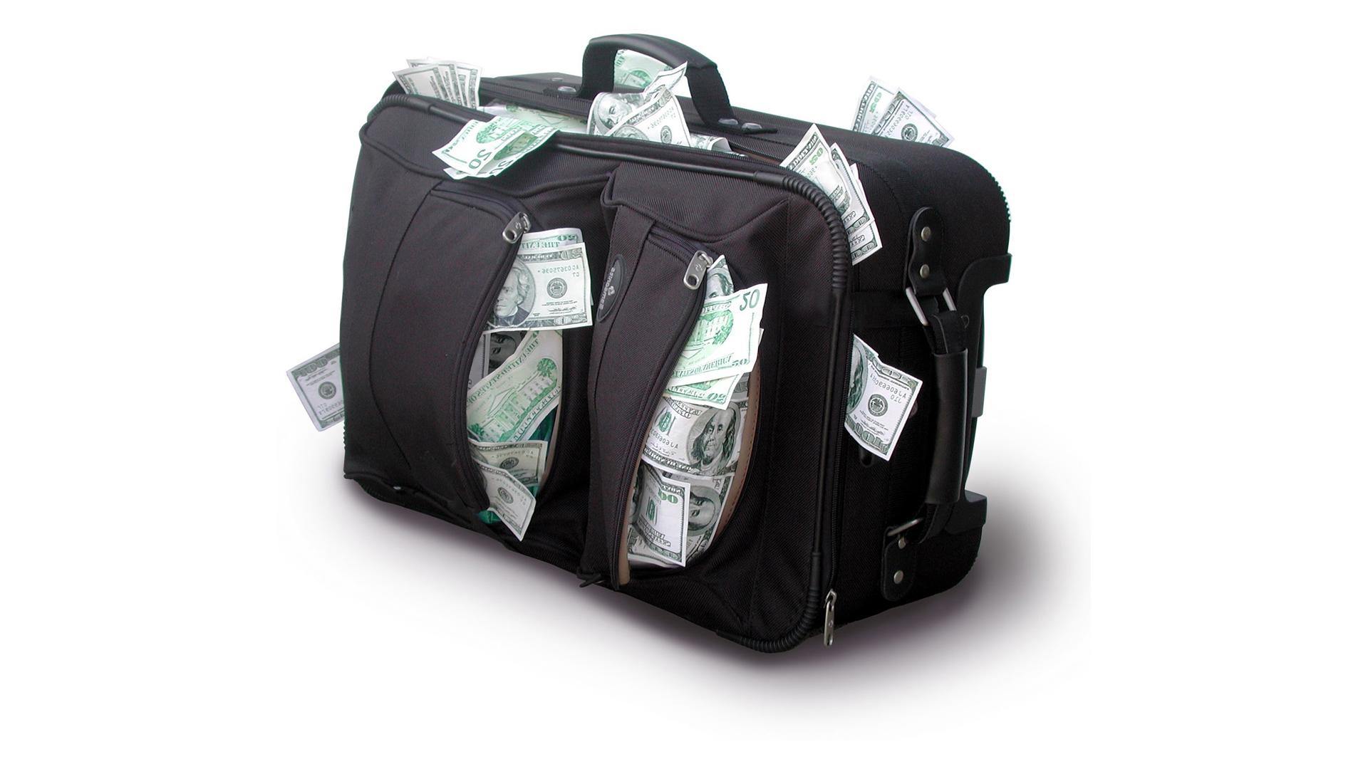 Широкоформатные обои сумка с деньгами