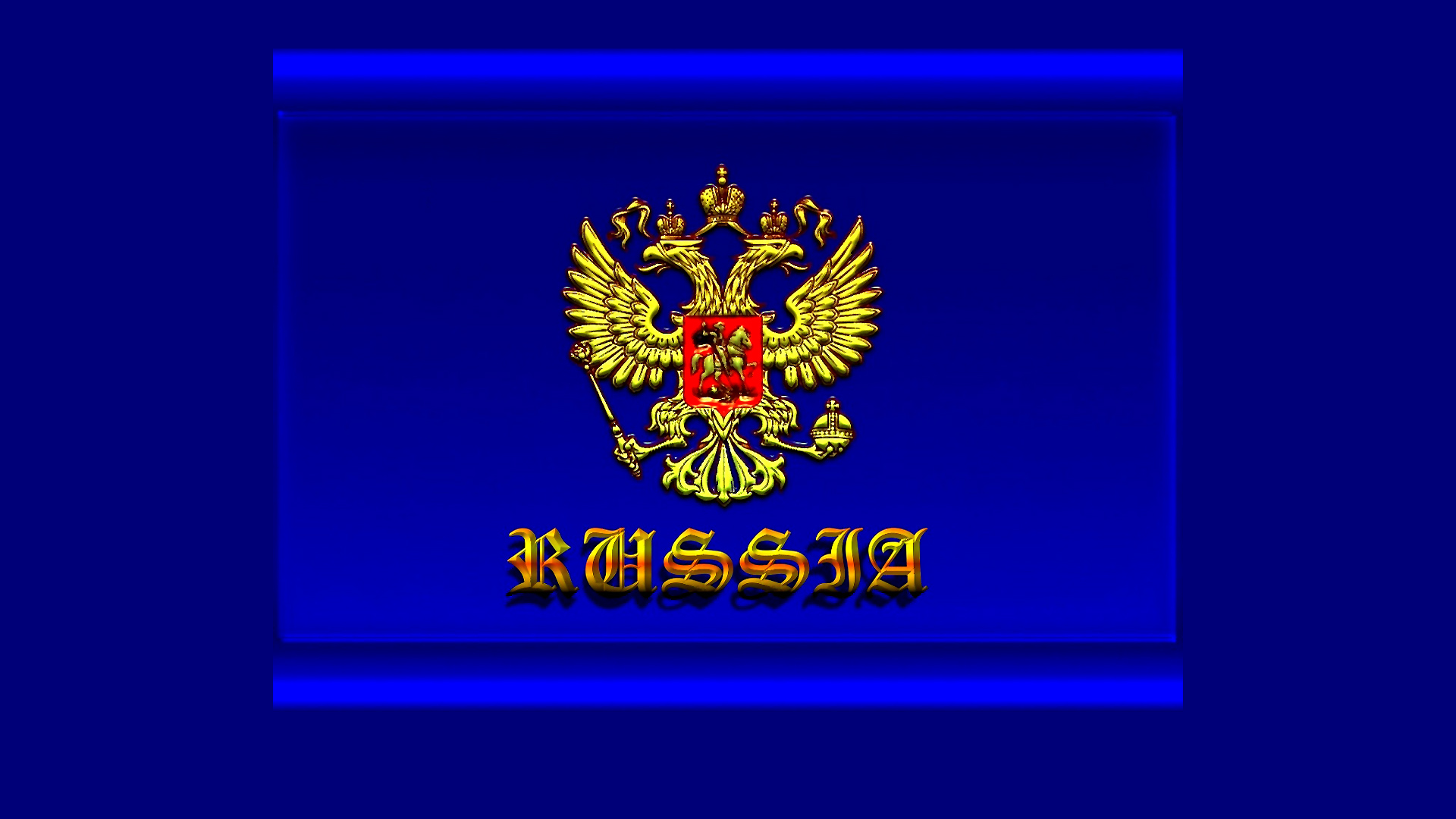 Широкоформатные обои russia герб россии