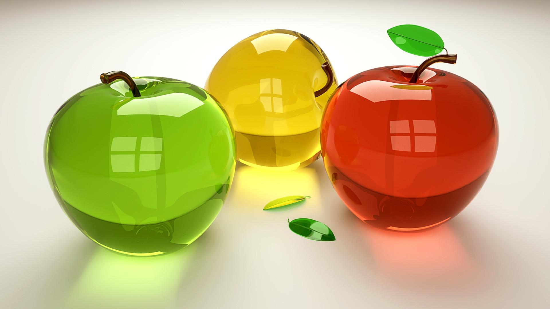 Обои яблоки стеклянные для рабочего стола