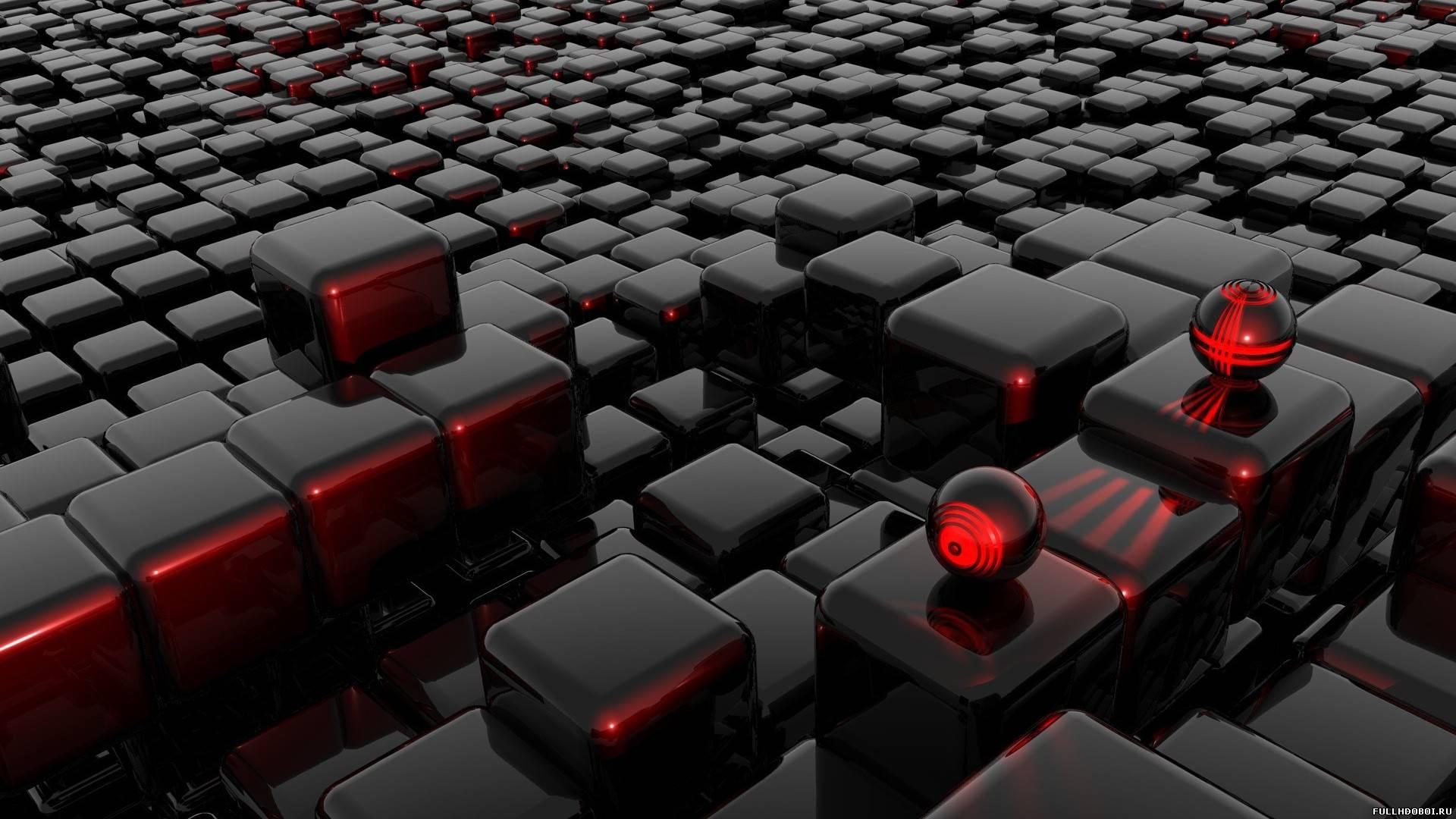 Обои черные кубики для рабочего стола