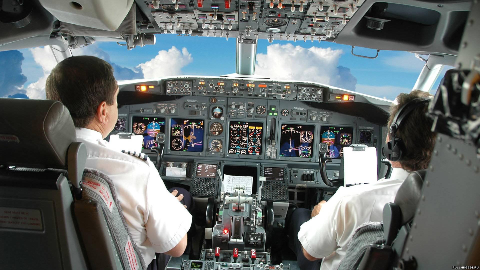 Обои вид из кабины пилота самолета для