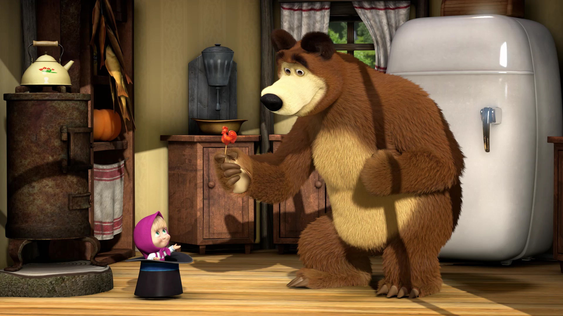 Маша и медведь маша и медведь на кухне