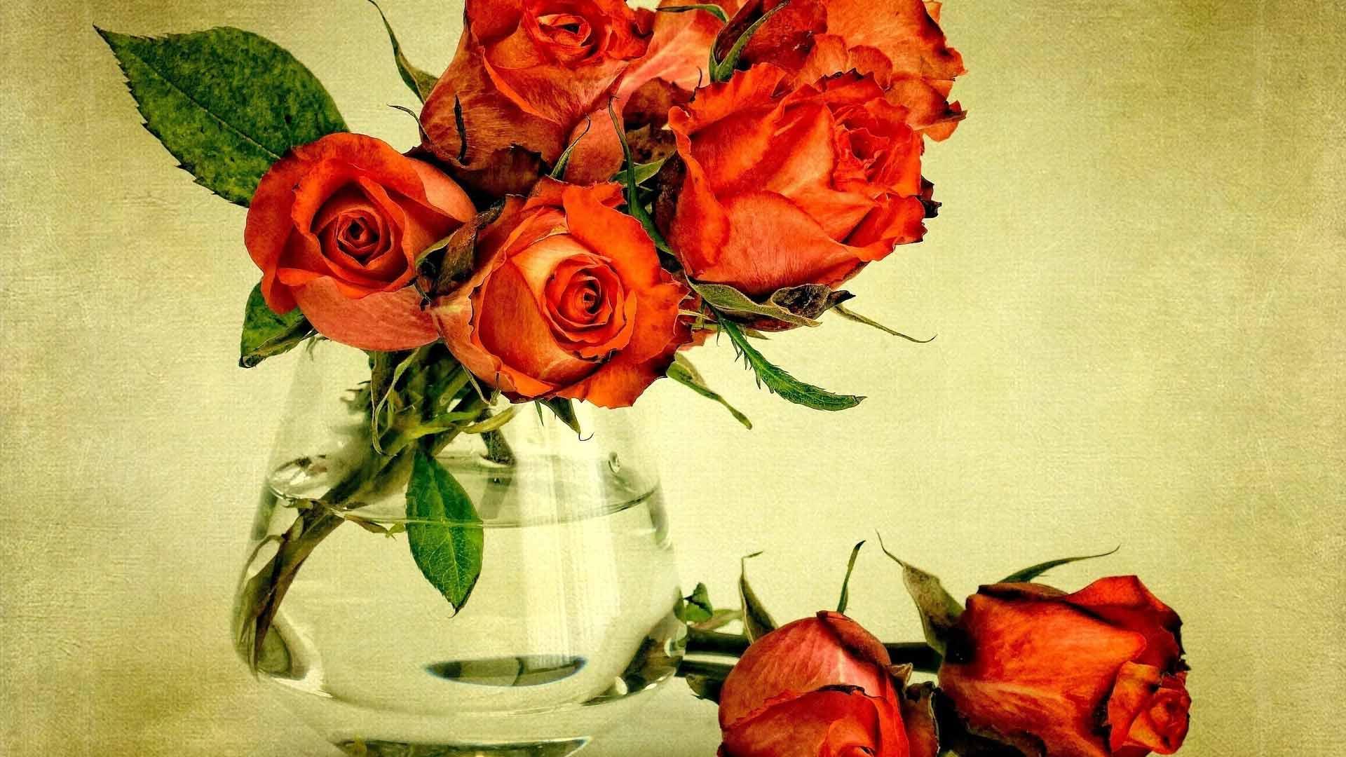 Фото цветов букетов роз в вазе