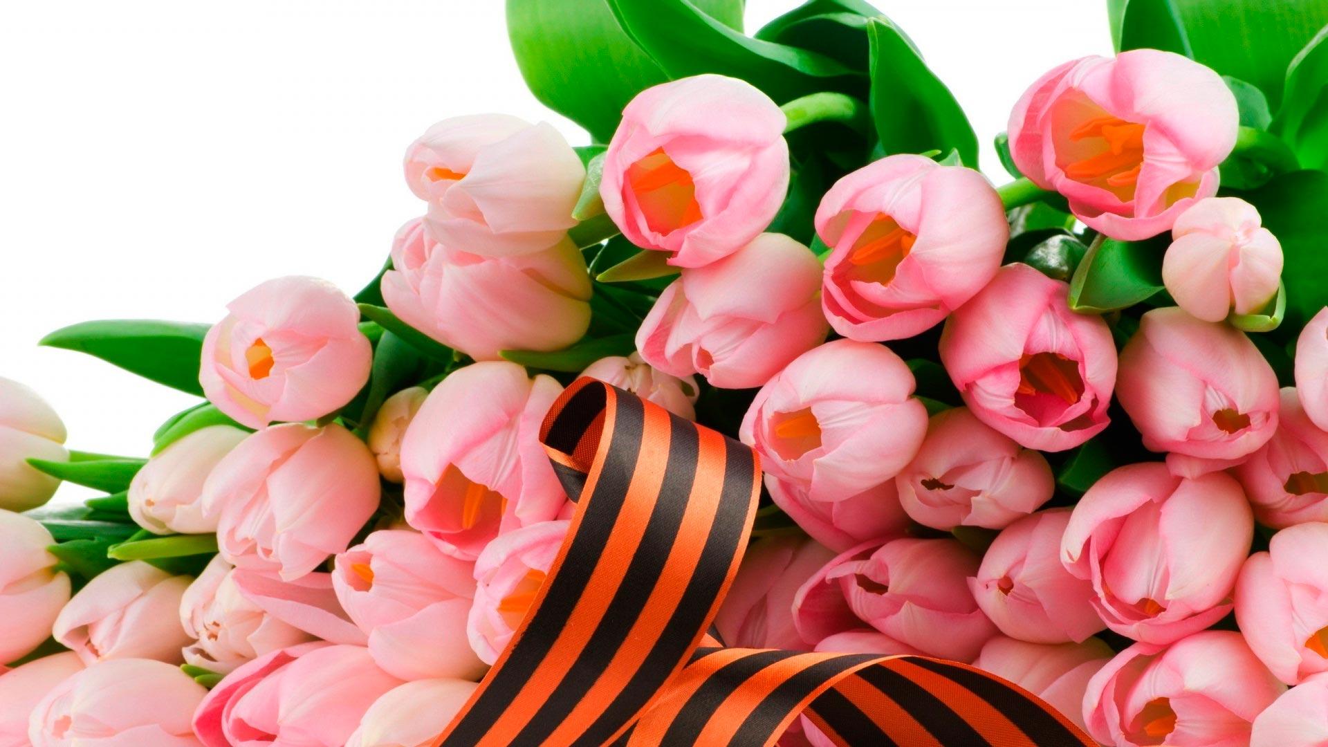 На 9 мая букеты тюльпаны на 9 мая