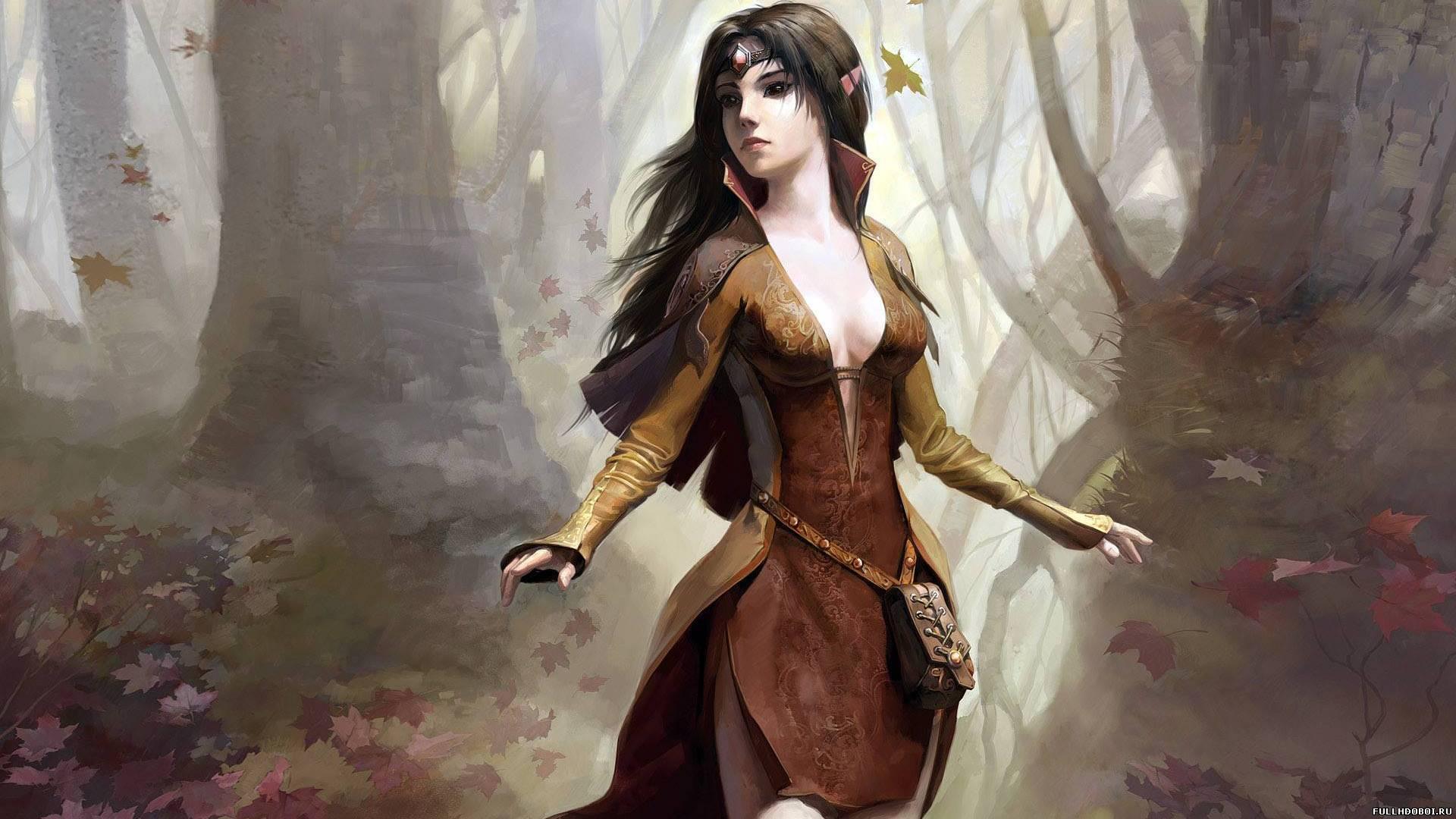 Девушка в лесу девочка в осеннем лесу