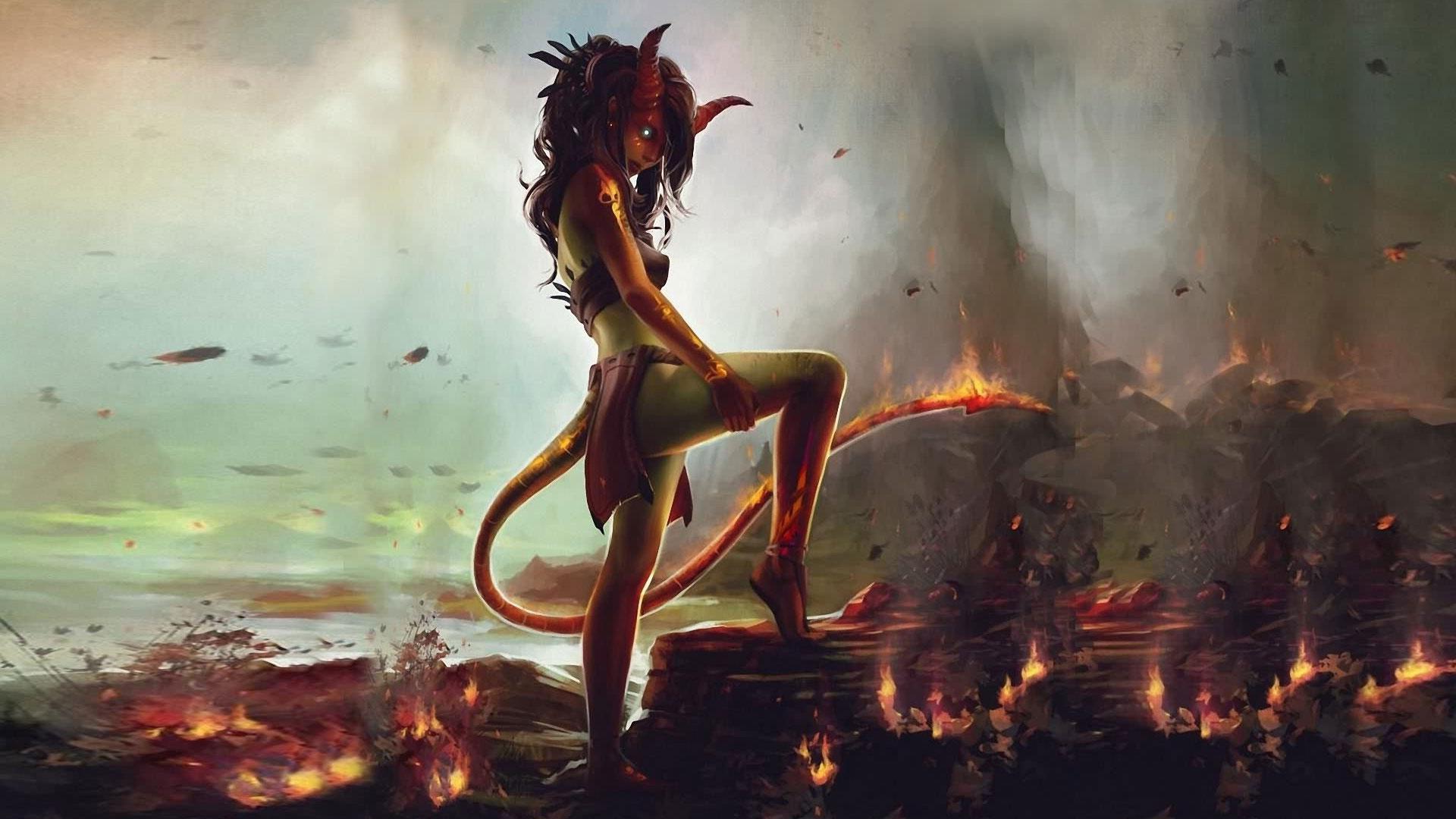 Дьявол обои на рабочий стол 1366х768