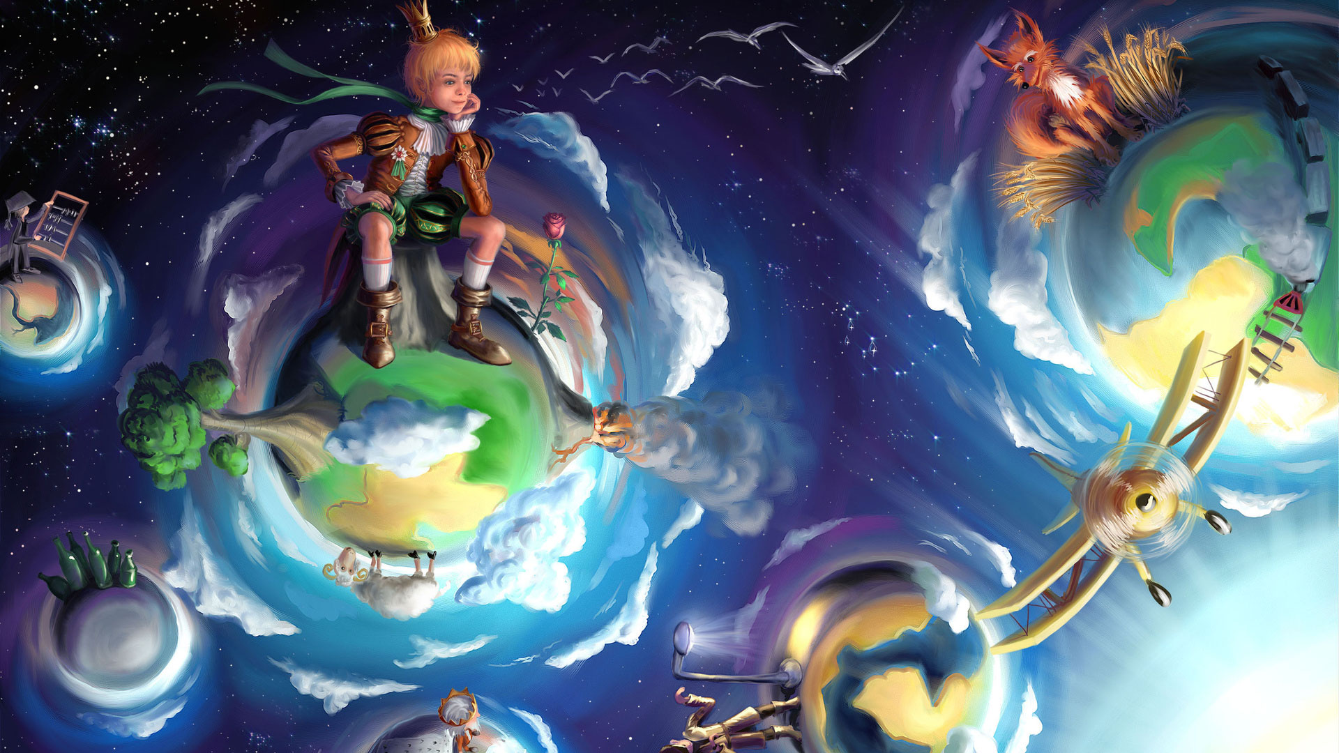Маленький принц многосерийный мультик - b