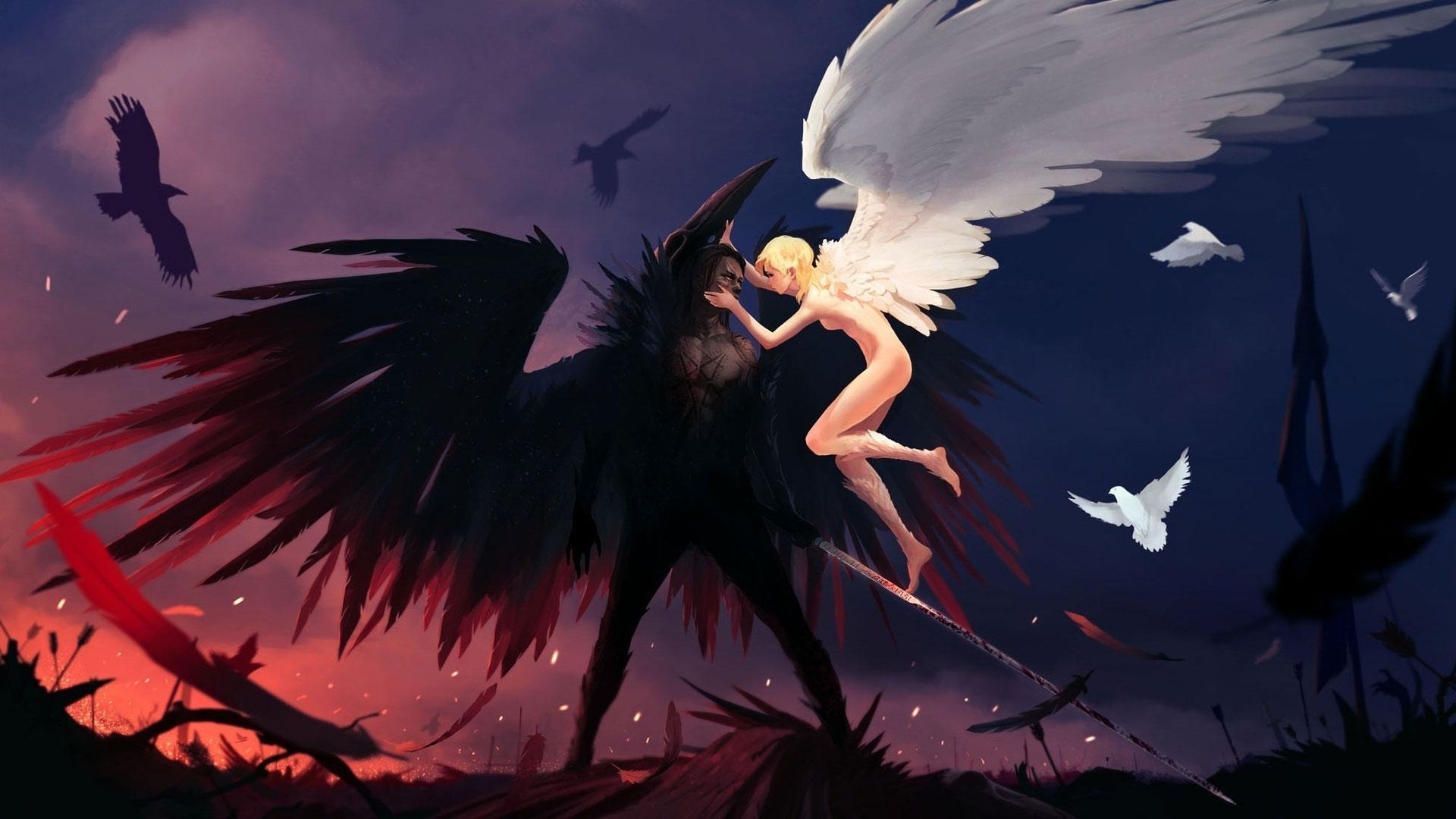 картинки на рабочий стол демоны и ангелы