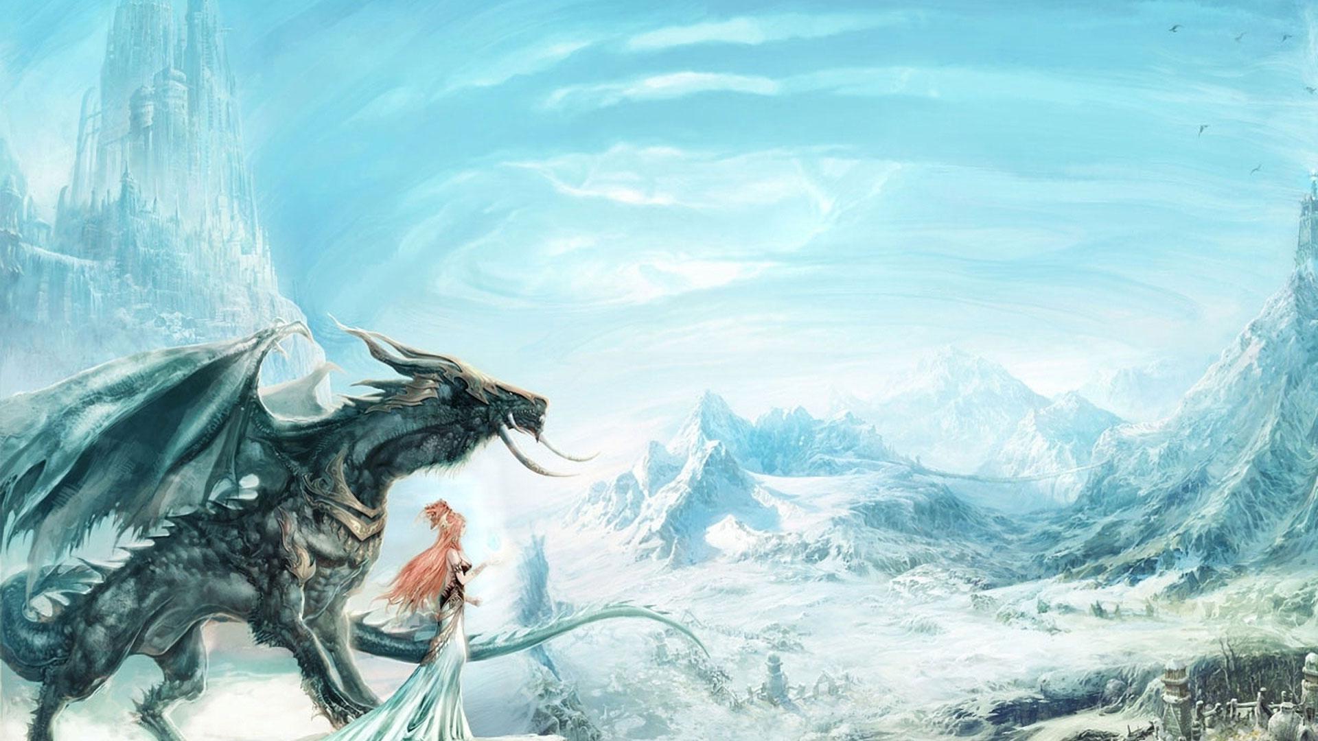 Обои на рабочий стол дракон красивые