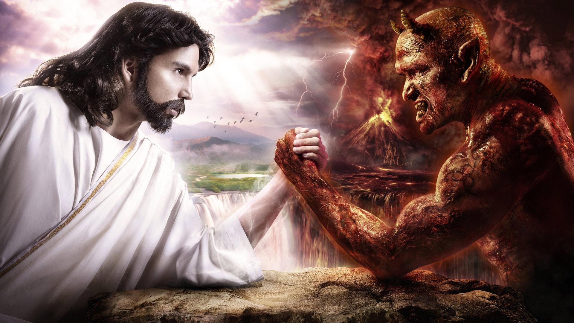 И картинки дьявол и иисус скачать