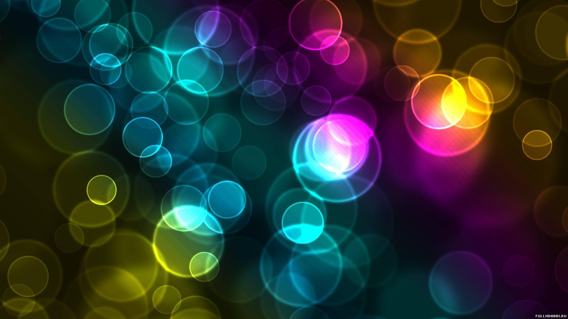 Широкоформатные обои цветные пузыри