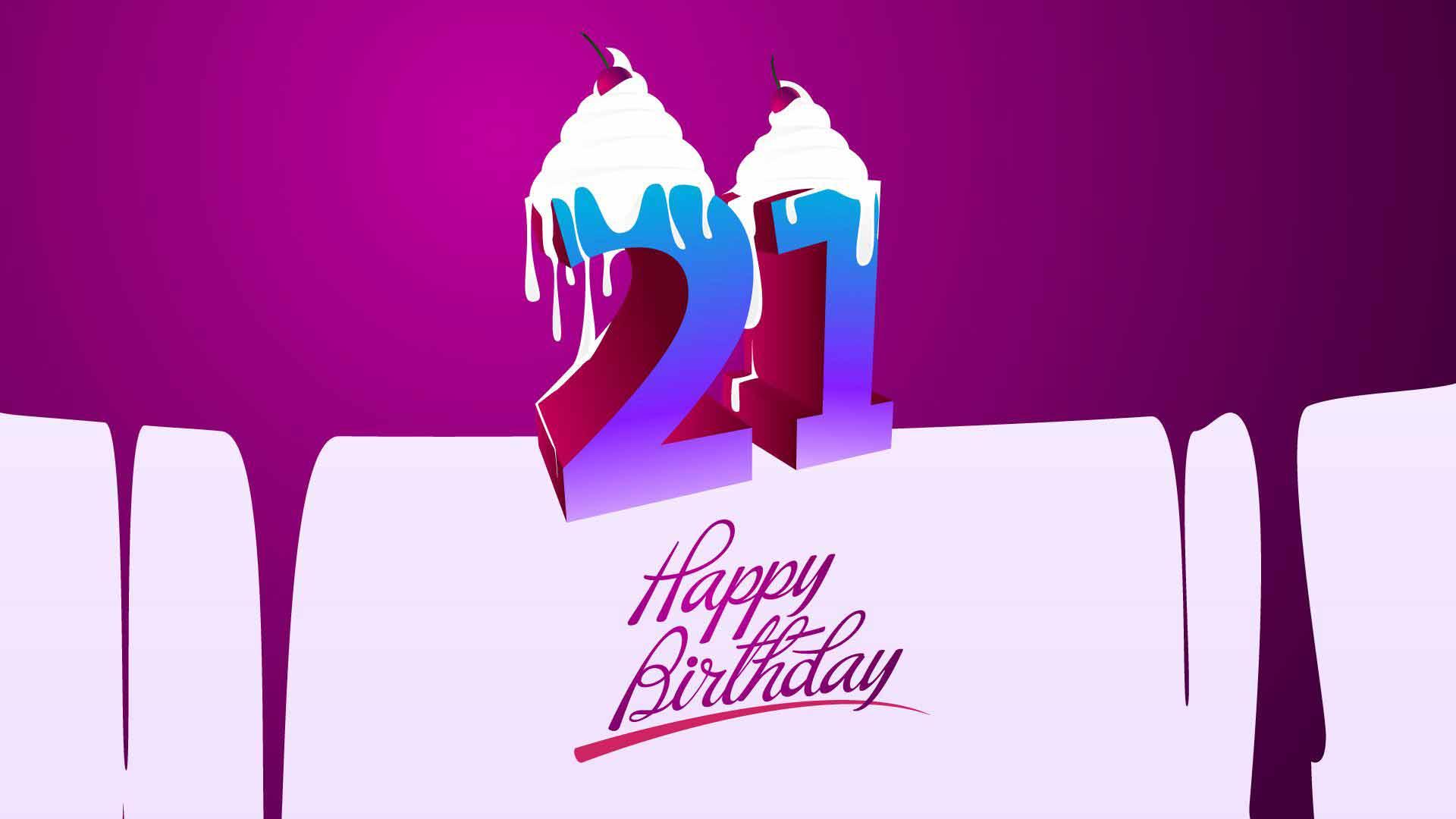 Поздравление с днём рождения 21 год парню