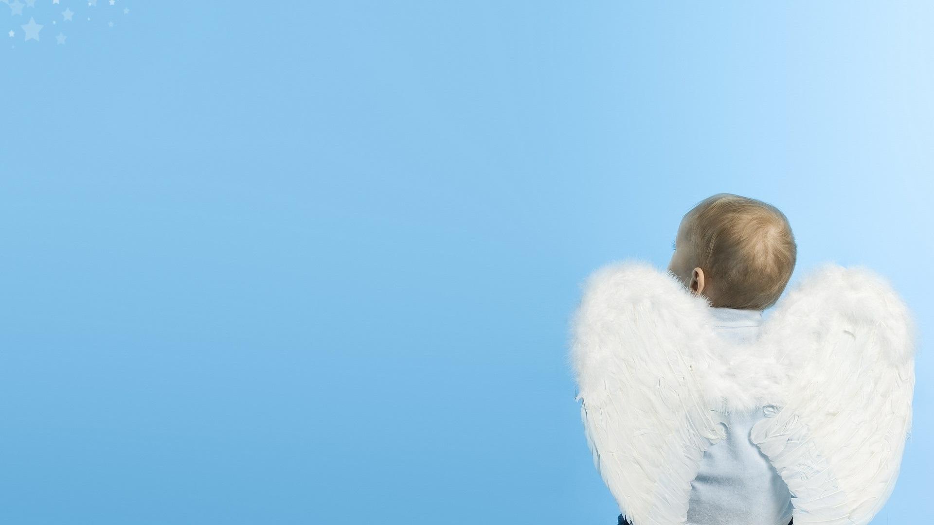 обои для рабочего стола широкоформатные ангел № 6389  скачать