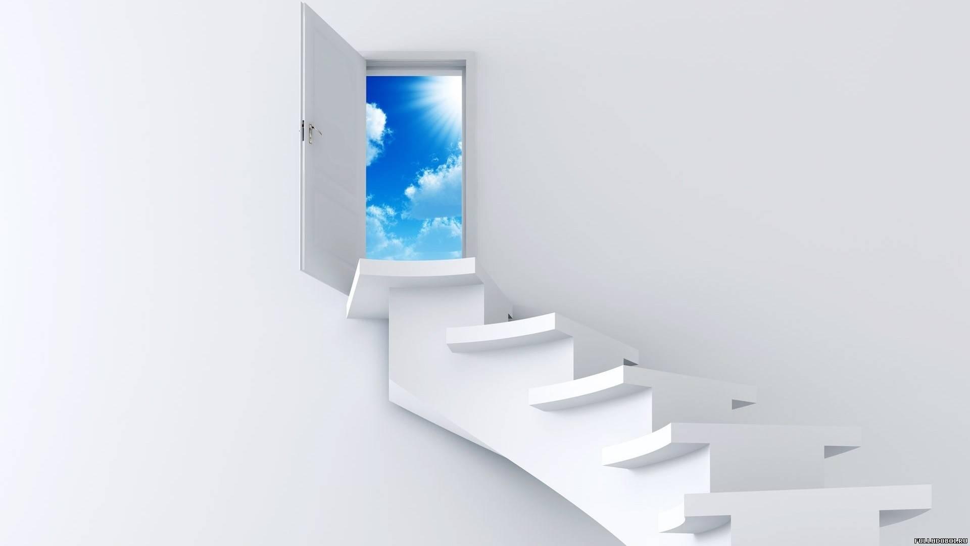 Обои дверь в небо для рабочего стола