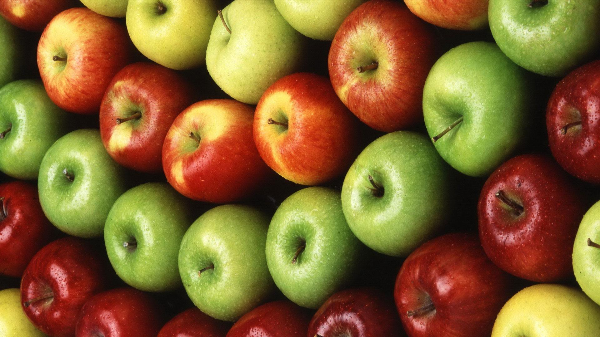 Обои на рабочий стол яблоки широкоформатные