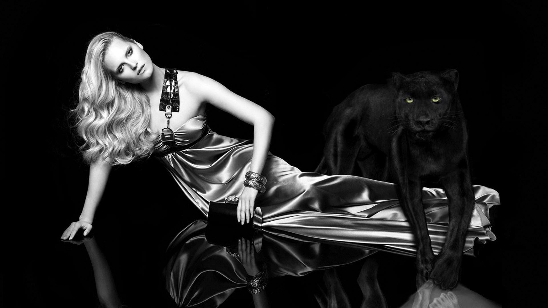 Девушка черная пантера фото