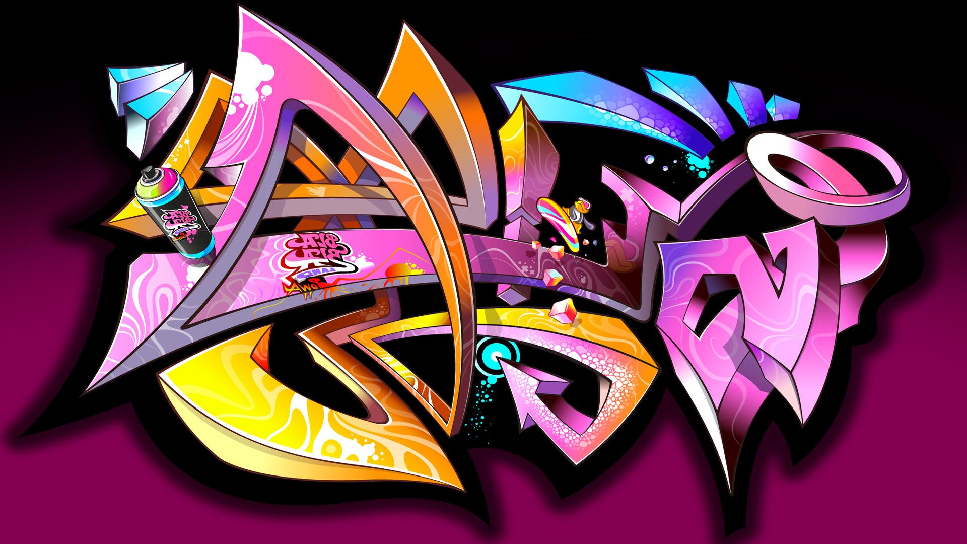 Обои граффити в стиле граффити