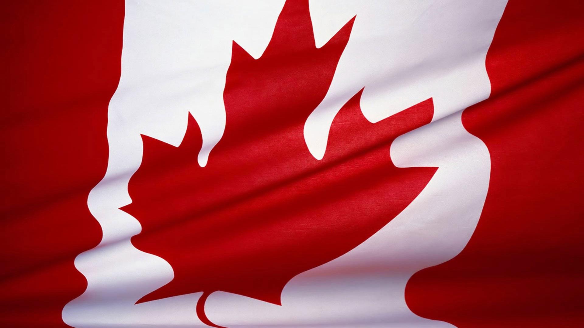 Широкоформатные обои канадский флаг