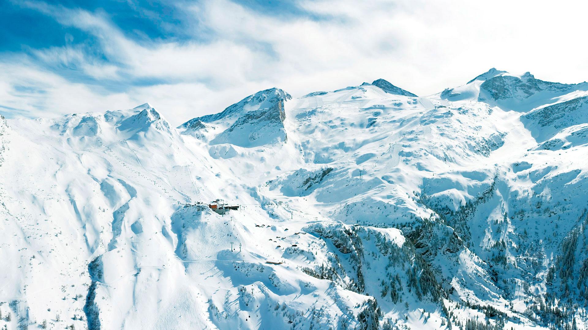Обои снежные горы горы в снегу