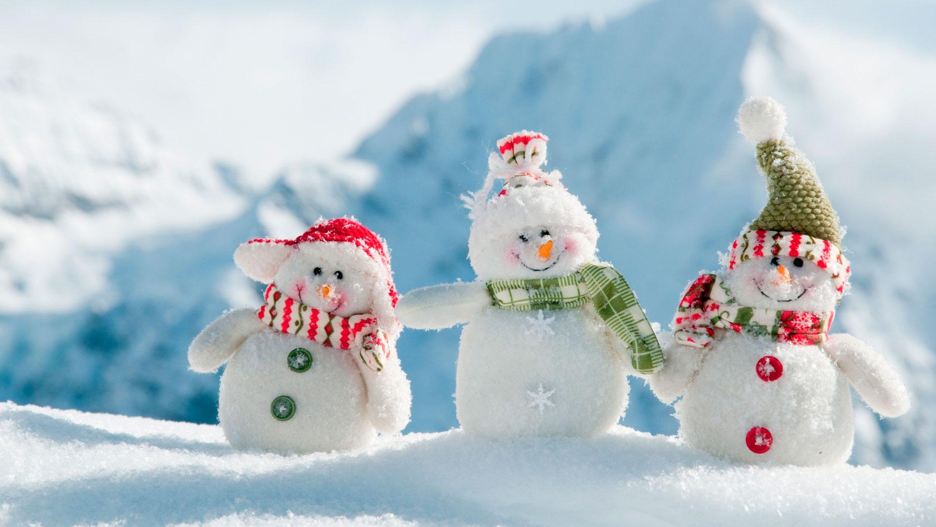 Картинки про зиму и снеговика