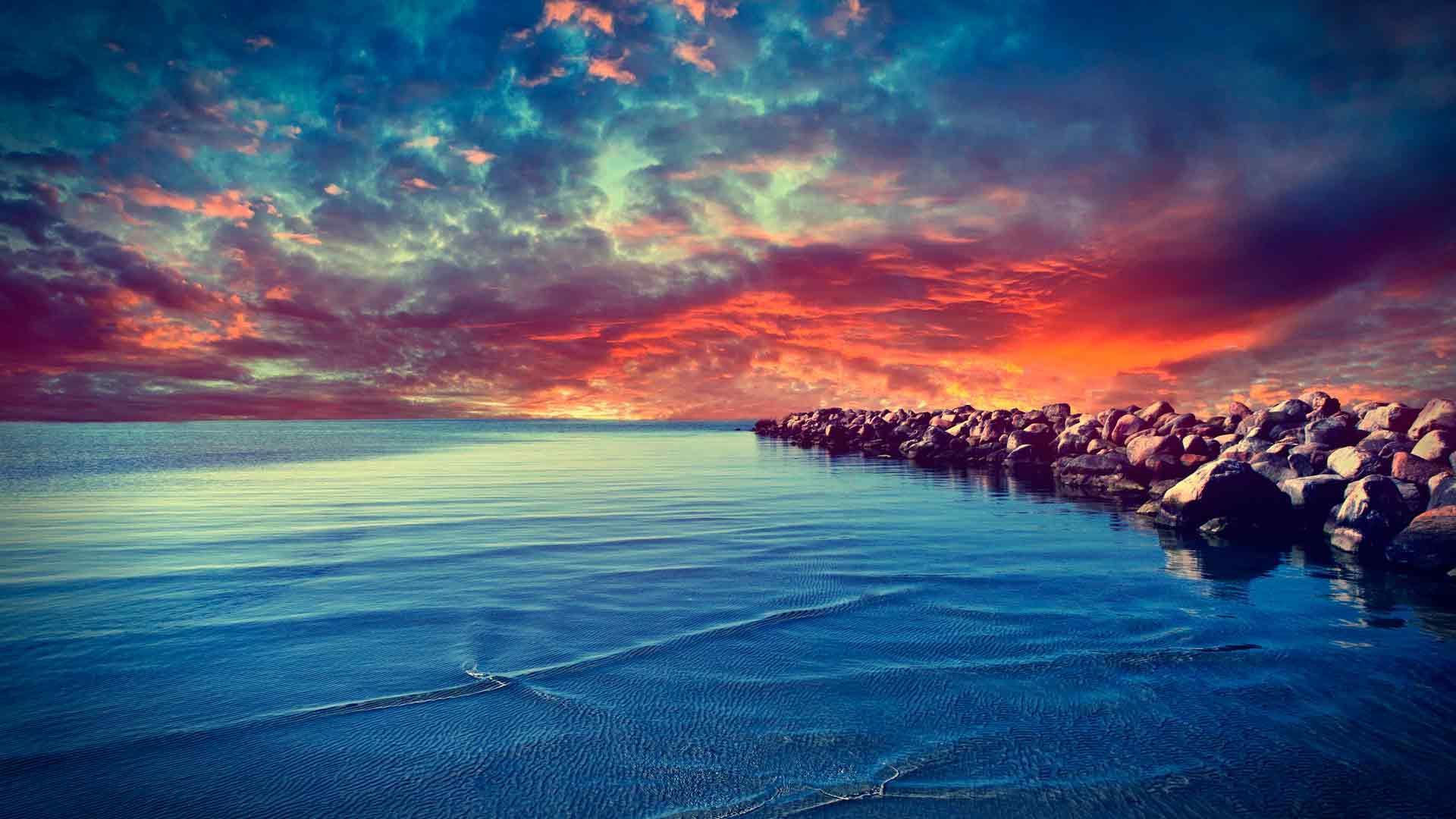 фото море и камни