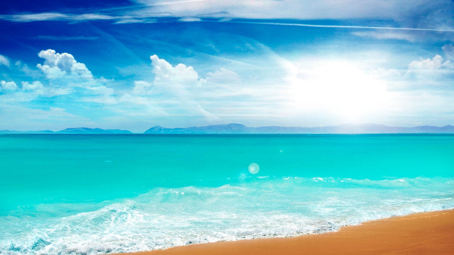 обои на рабочий стол берег пляж № 646474 загрузить