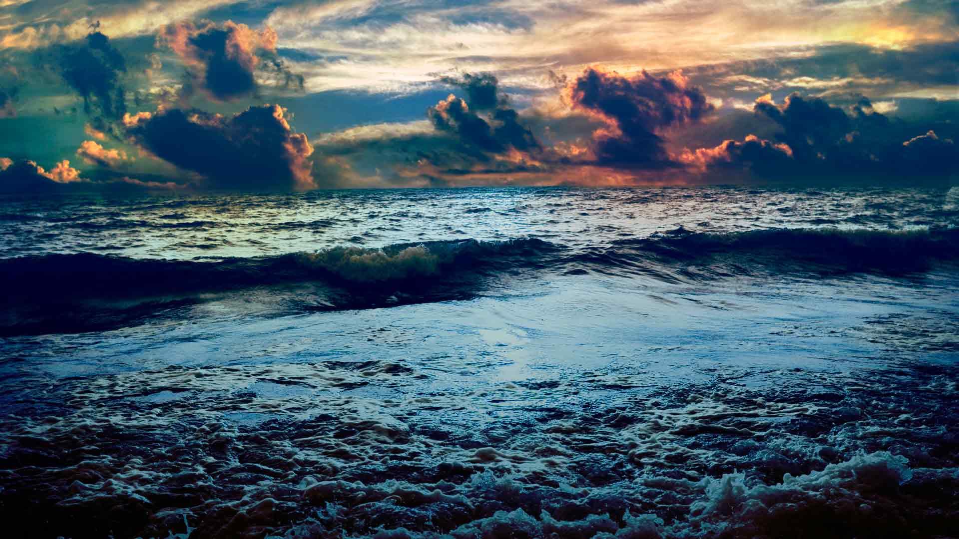 Обои неспокойное море бушующее море