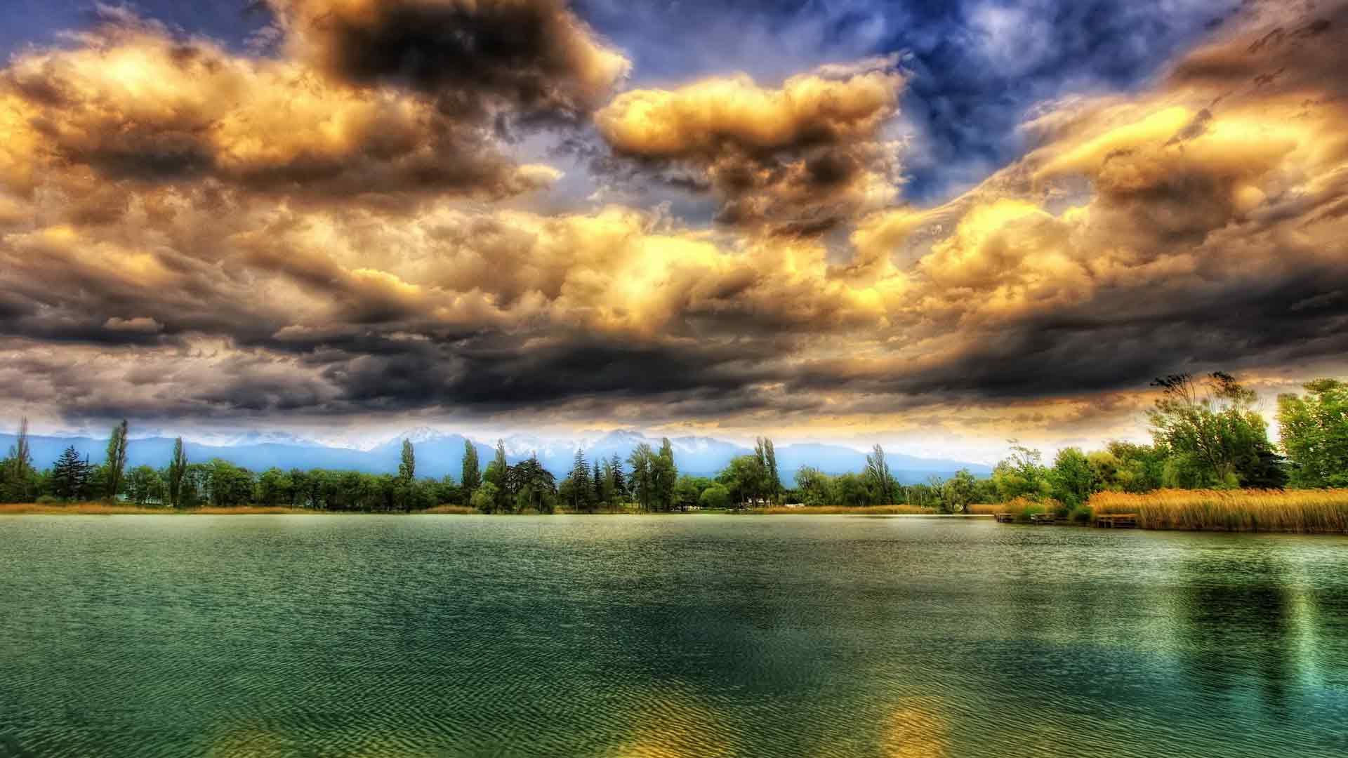 Лесное озеро обои для рабочего стола 5