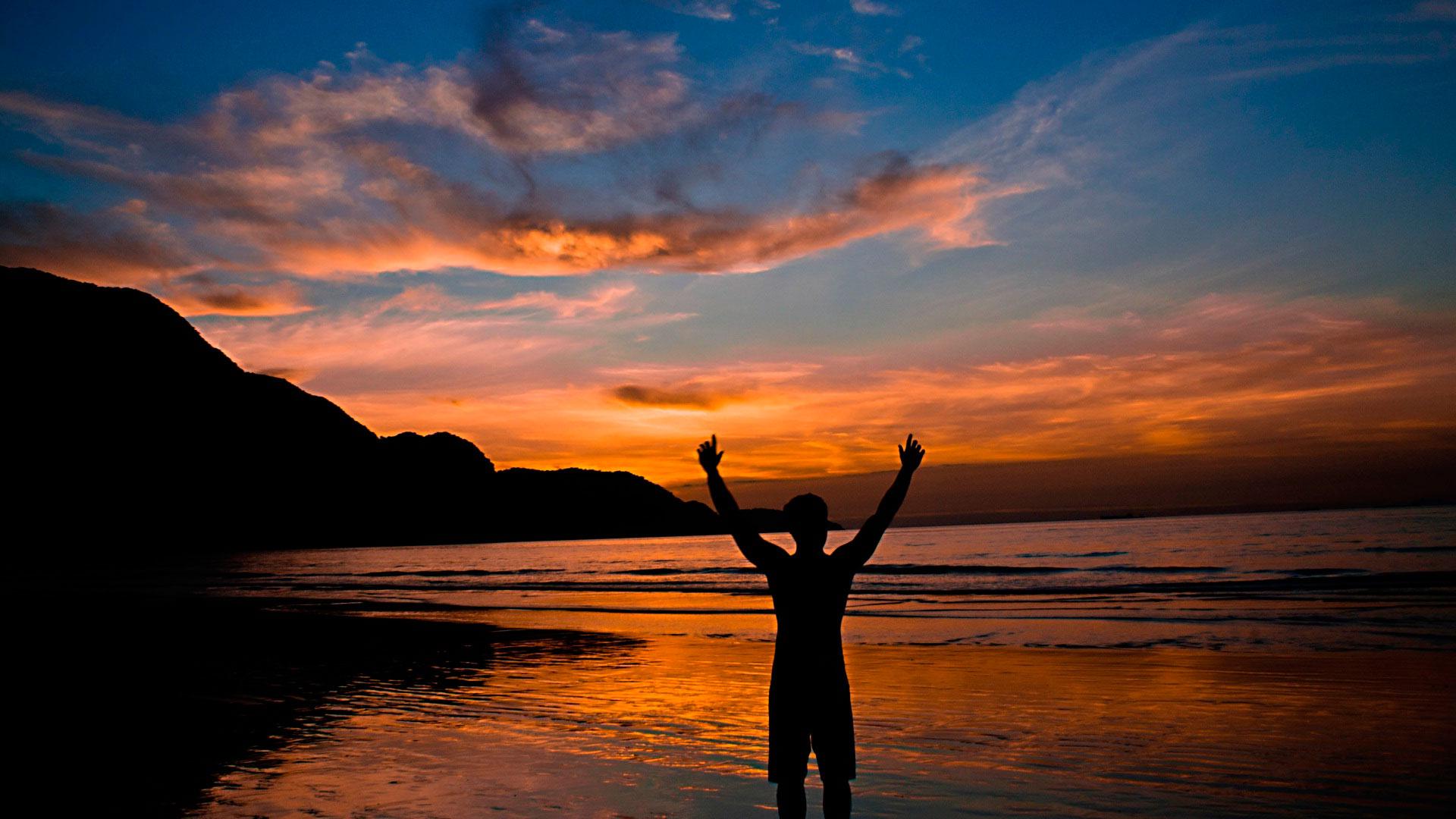 Свобода, На фоне заката...