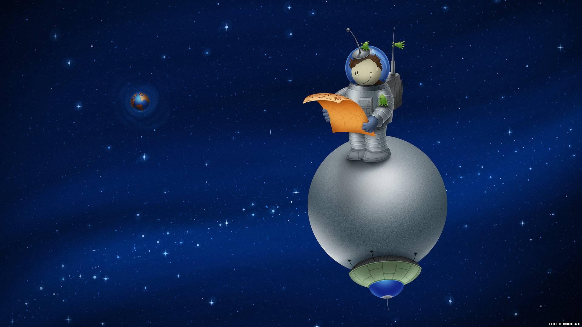 Широкоформатные обои космос для детей