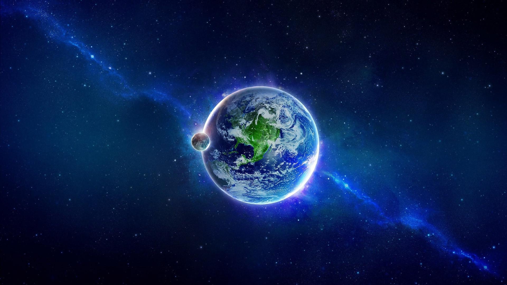 Обои космос земля для рабочего стола